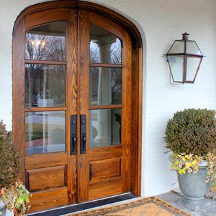 Glass Pane Double Doors