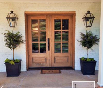 Glass Pane Double Front Doors